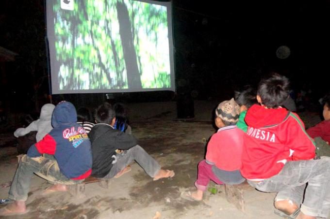 ProFauna Activists Campaigning for Forest and Wildlife Protection by the Semeru
