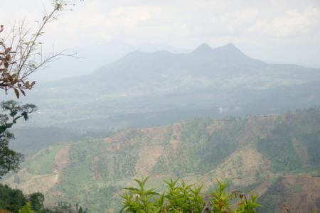 One of the deforested areas in Java Island for non-forestry interests