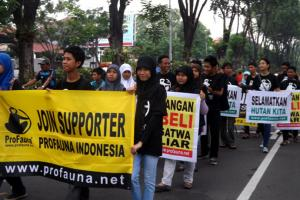 ProFauna's Supporters Gingered up Surabaya's Car Free Day