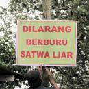 ProFauna Supporter Post Wildlife Hunting Warning Sign in Situbondo, East Java